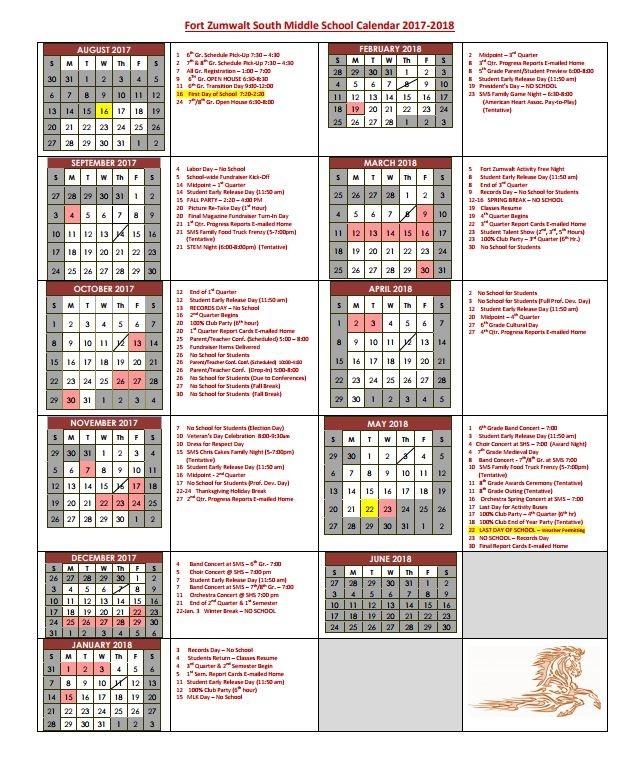 Fort Zumwalt Calendar With Regard To Information Calendars Printing