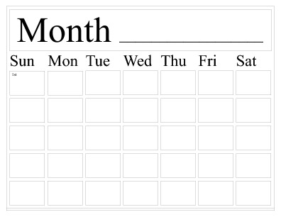 Free Calendar Templates Pageprodigy