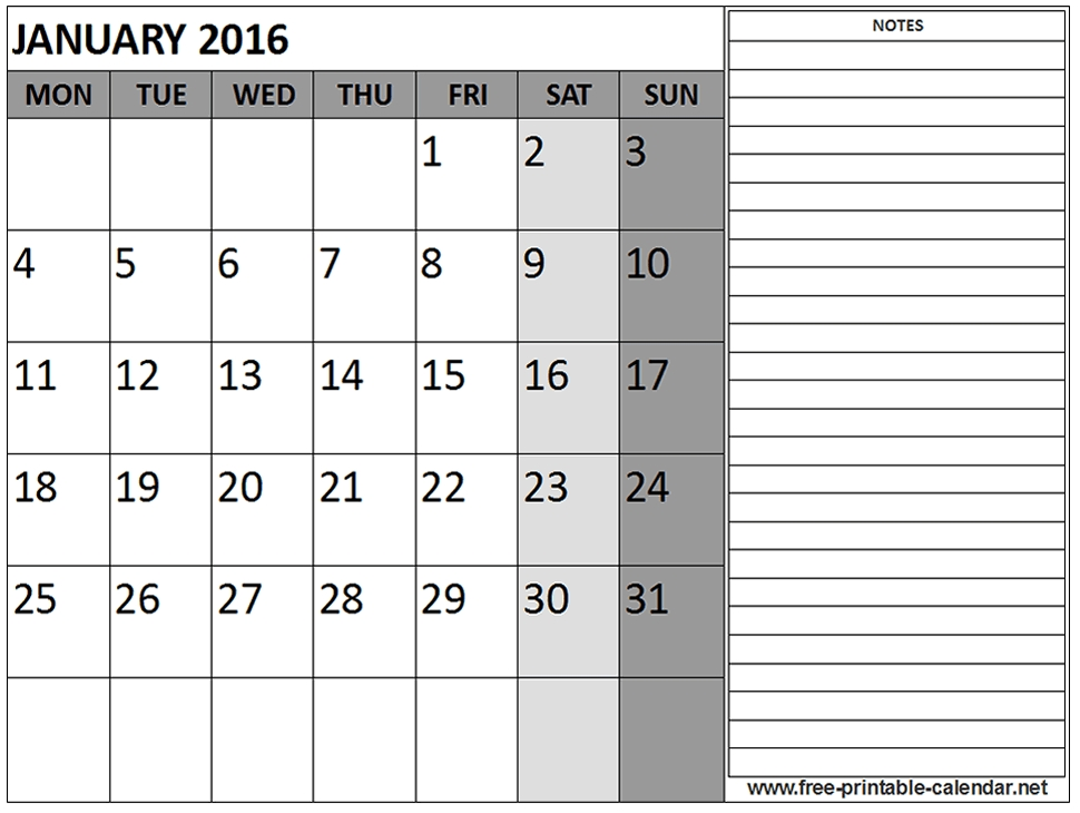 Free Printable Calendar With Notes Akbakatadhinco