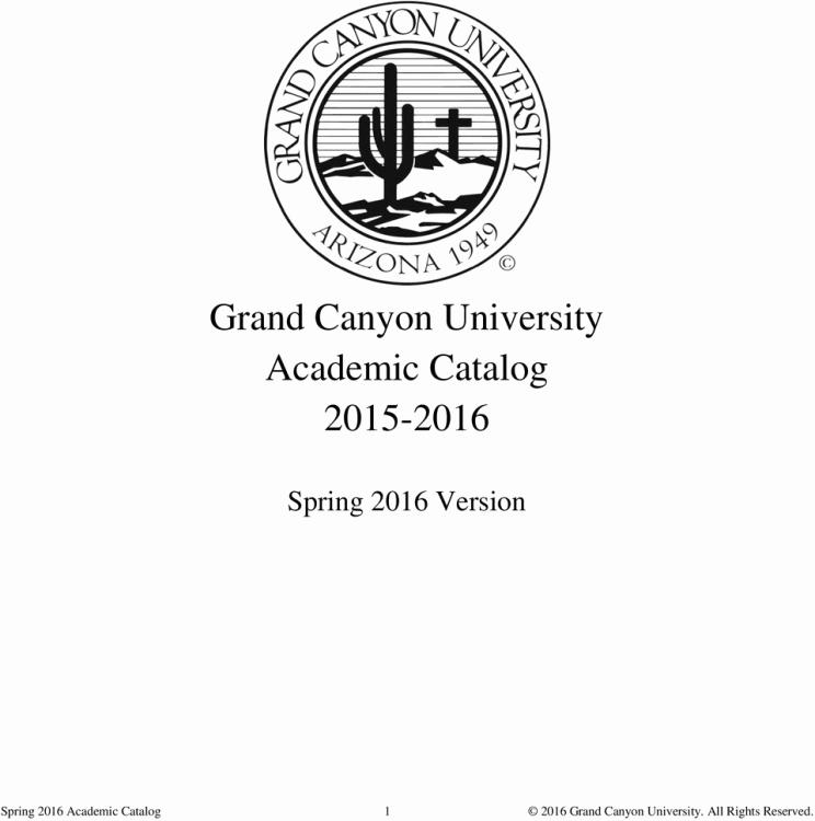 Grand Canyon University Calendar Grand Canyon University Academic