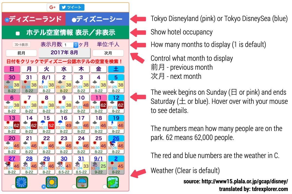 How To Use The Tokyo Disneyland Crowd Calendar Jet Set Japan