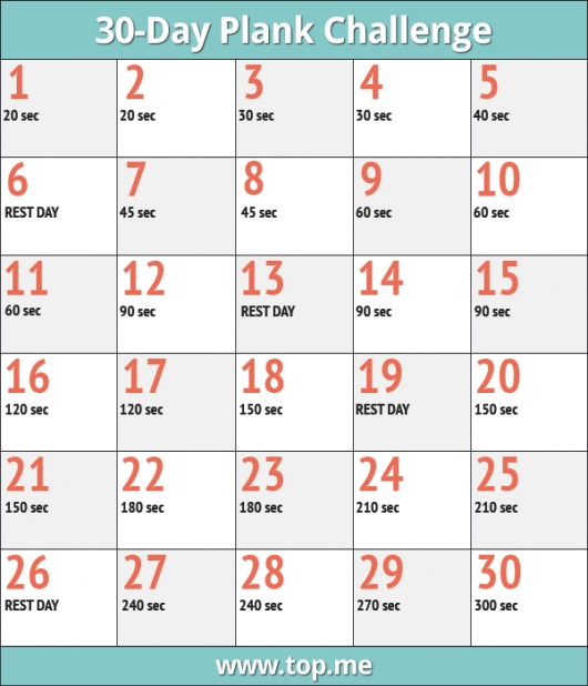 Join The 30 Day Plank Challenge For A Sexy Tight Core Top