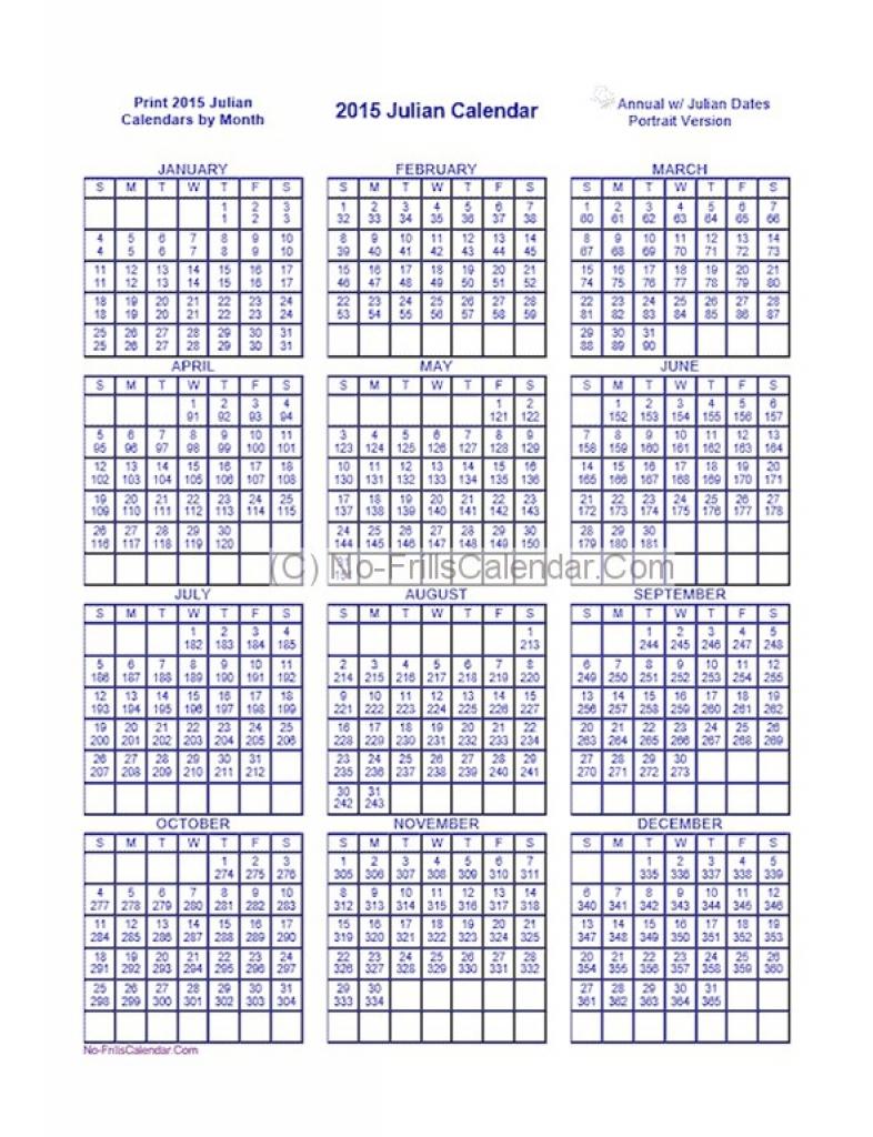 Julian Calendar 2016 Printable Calendar Templates Pictures 2019