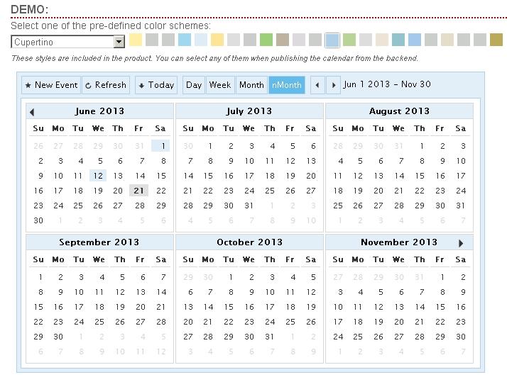 Multi Month Calendar Meloin Tandemco