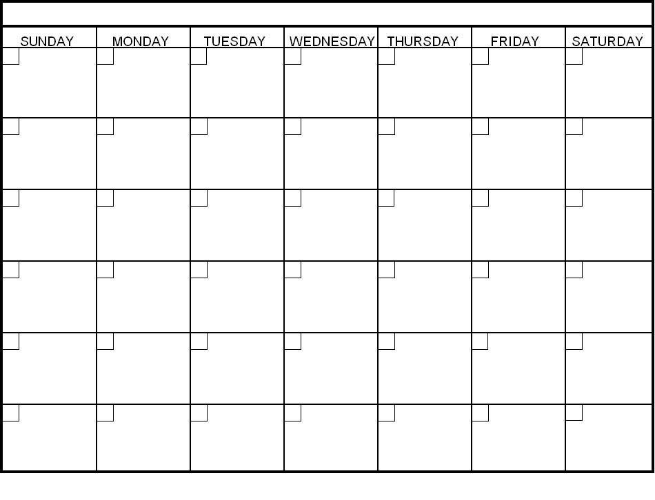 Print Free Blank Calendars Tomadaretodonateco