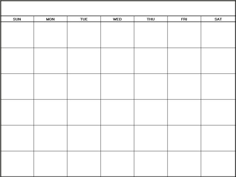 Printable Blank Monthly Calendars Hacisaecsaco