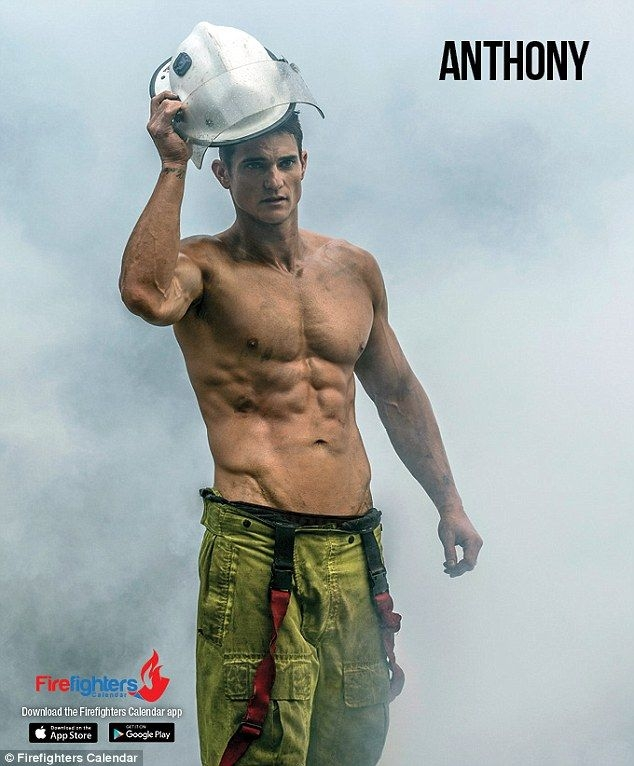 The Men From The Firefighters Calendar Strip Off For 2017 Daily