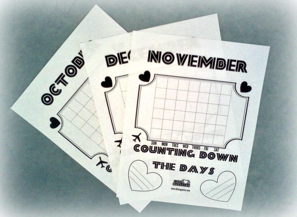 Wedding Countdown Calendar Printable Hacisaecsaco