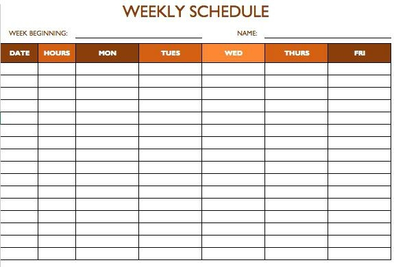 Work Schedule Template 5 Days Calendar For Free Templates Word And