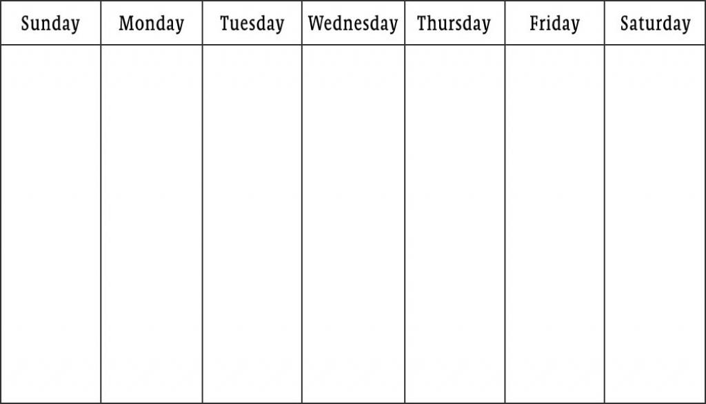Day Day Calendar Template