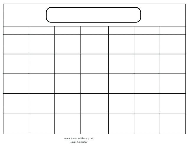 Free Printable Blank Monthly Calendars What Mommy Does Template For