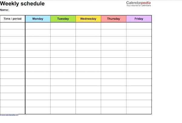 Perfect Daily Work Schedule Templates Template Lab Free Activity