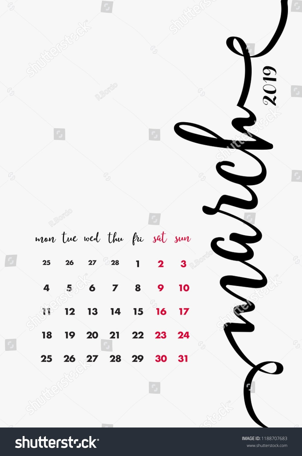 12 Months Calendar Pages Set Calendar Stock Vector (Royalty Free Page 3 Calendar 2019