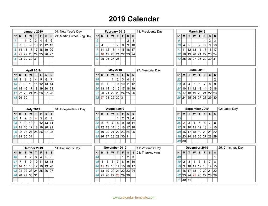 2 Column Calendar 2019 | Ten Free Printable Calendar 2019-2020 2 Column Calendar 2019