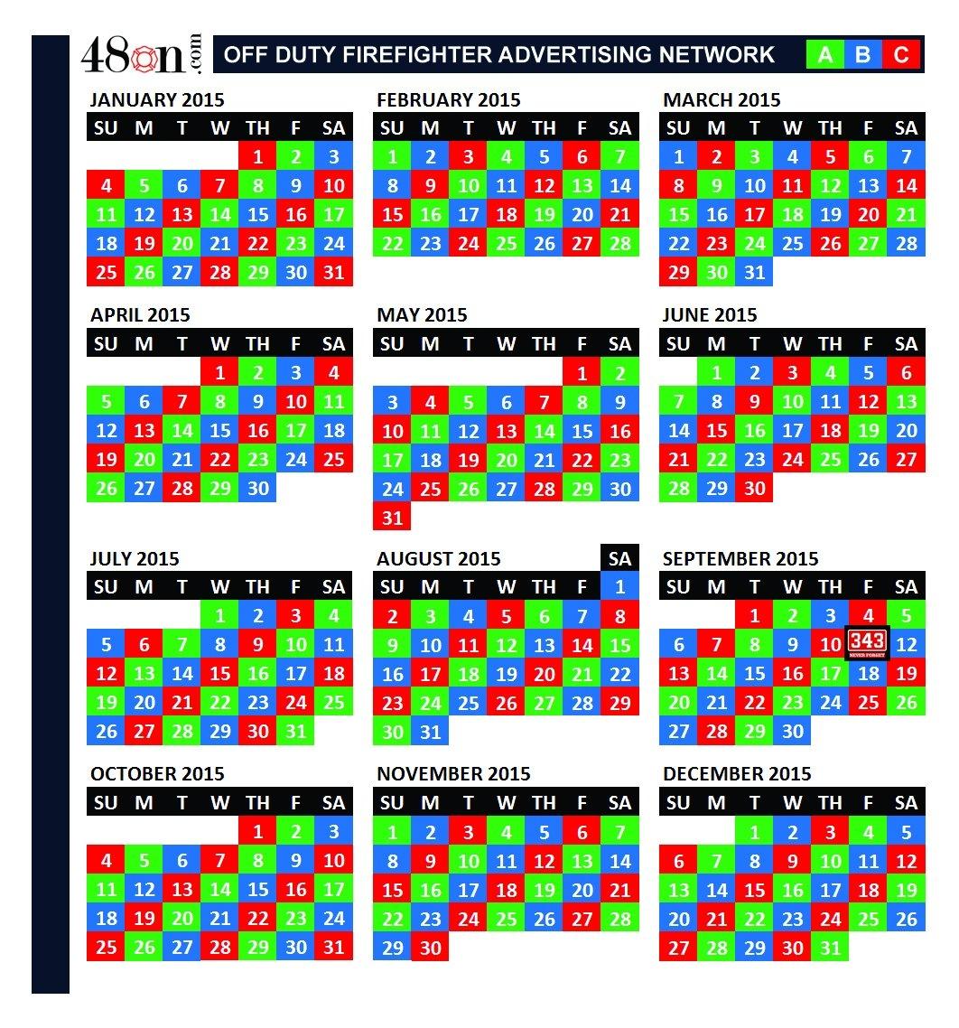 2015 Firefighter Shift Calendar – 48On Advertising – 48On 3 Shift Calendar 2019