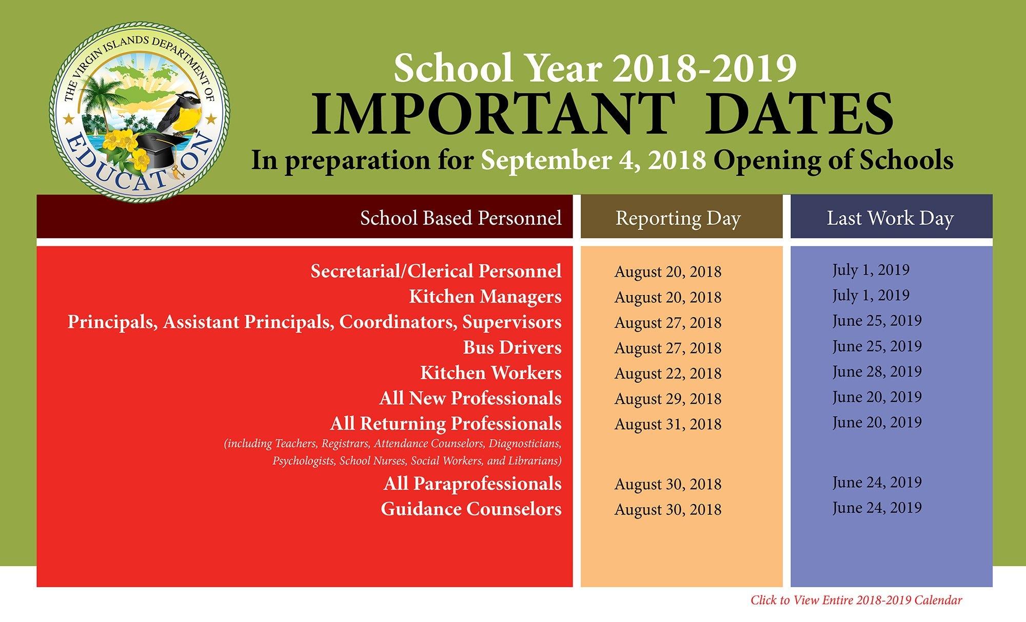 2018-2019 Calendar 2019 Calendar 365 Pdf