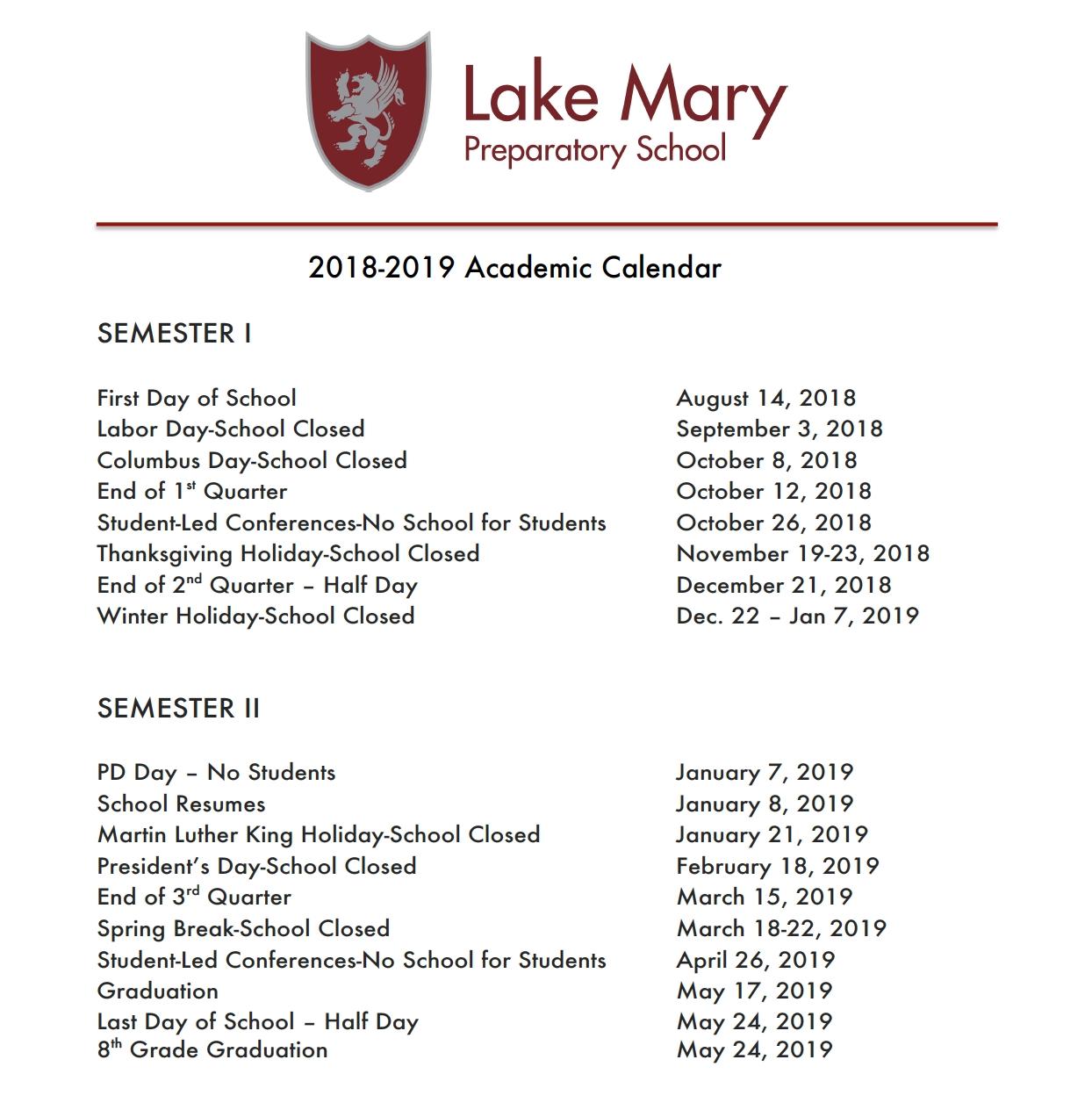 2018-2019 Calendar At A Glance | School Year Overview Calendar 2019 1St Quarter