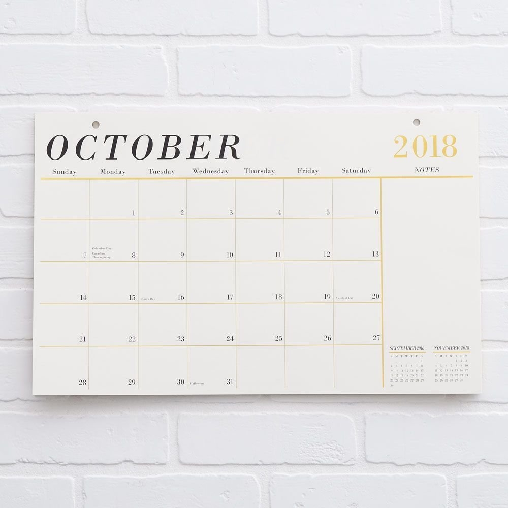 2018-2019 Foil Blotter Calendar | Templeton School Of Learning Calendar 2019 Paper Source