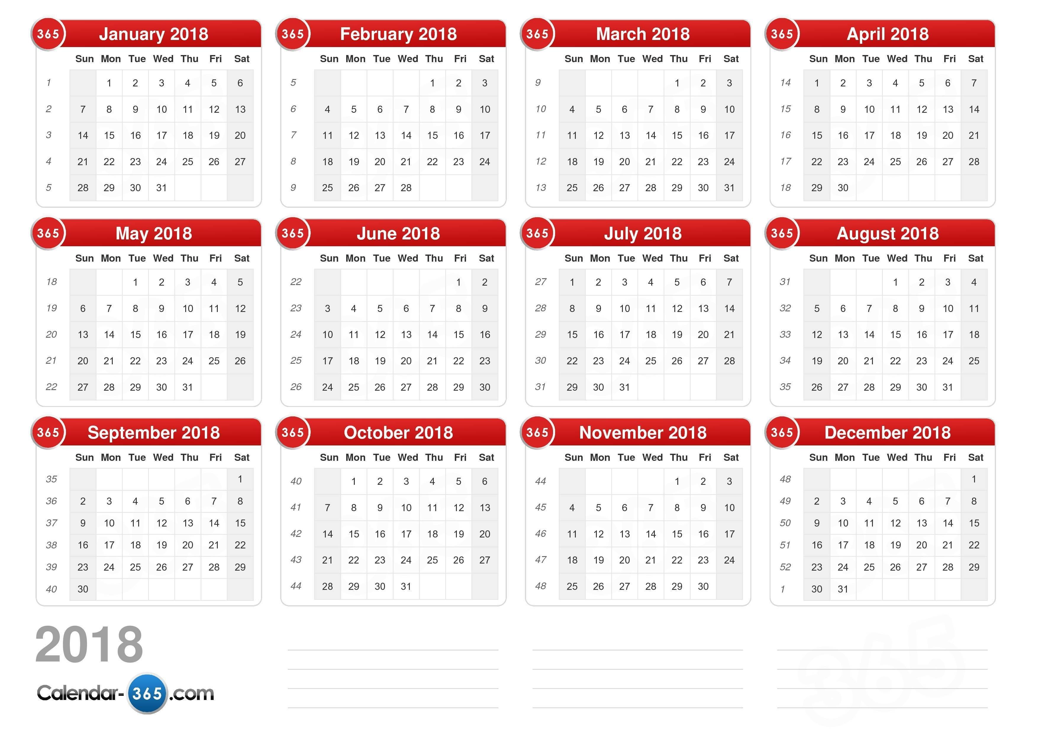 2018 Calendar E Calendar 2019 Download