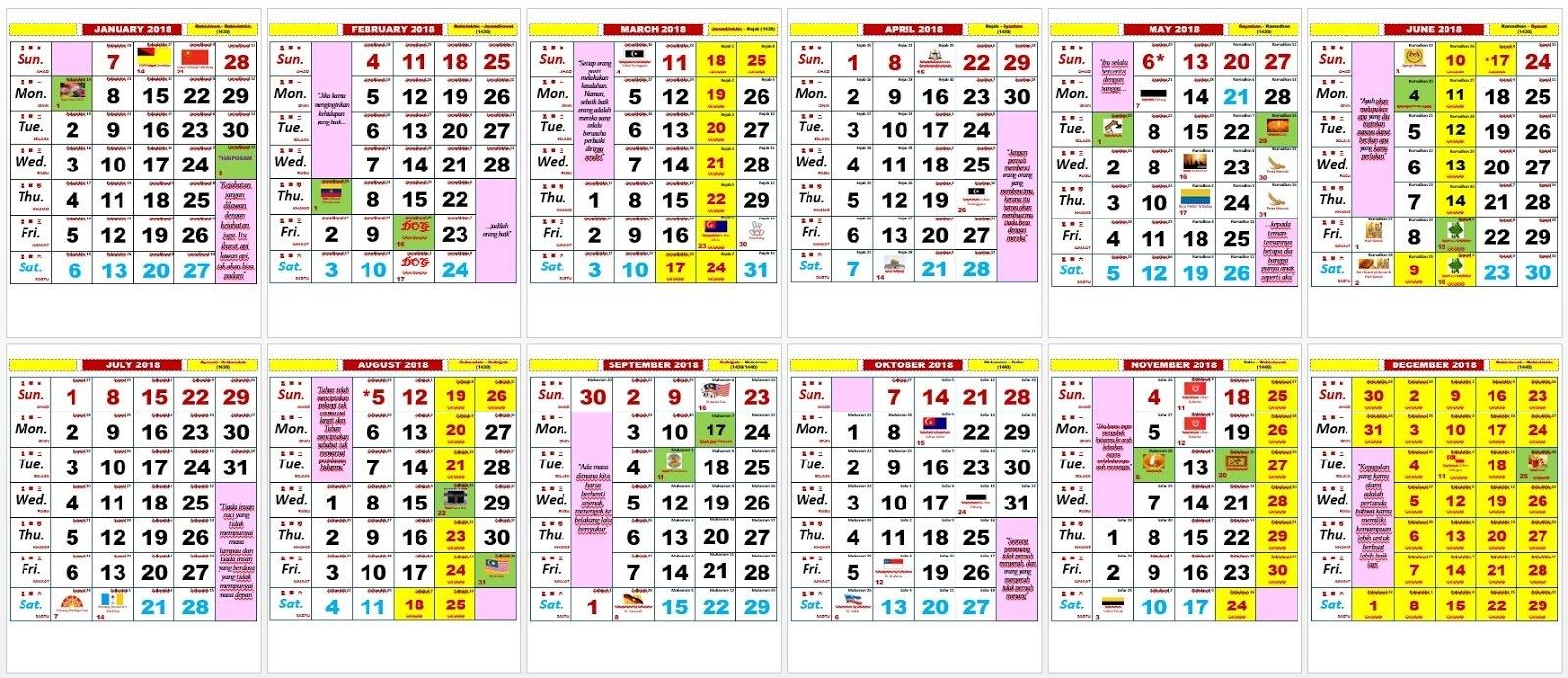 2018 Kalendar | 2019 2018 Calendar Printable With Holidays List Calendar 2019 Kuda Pdf