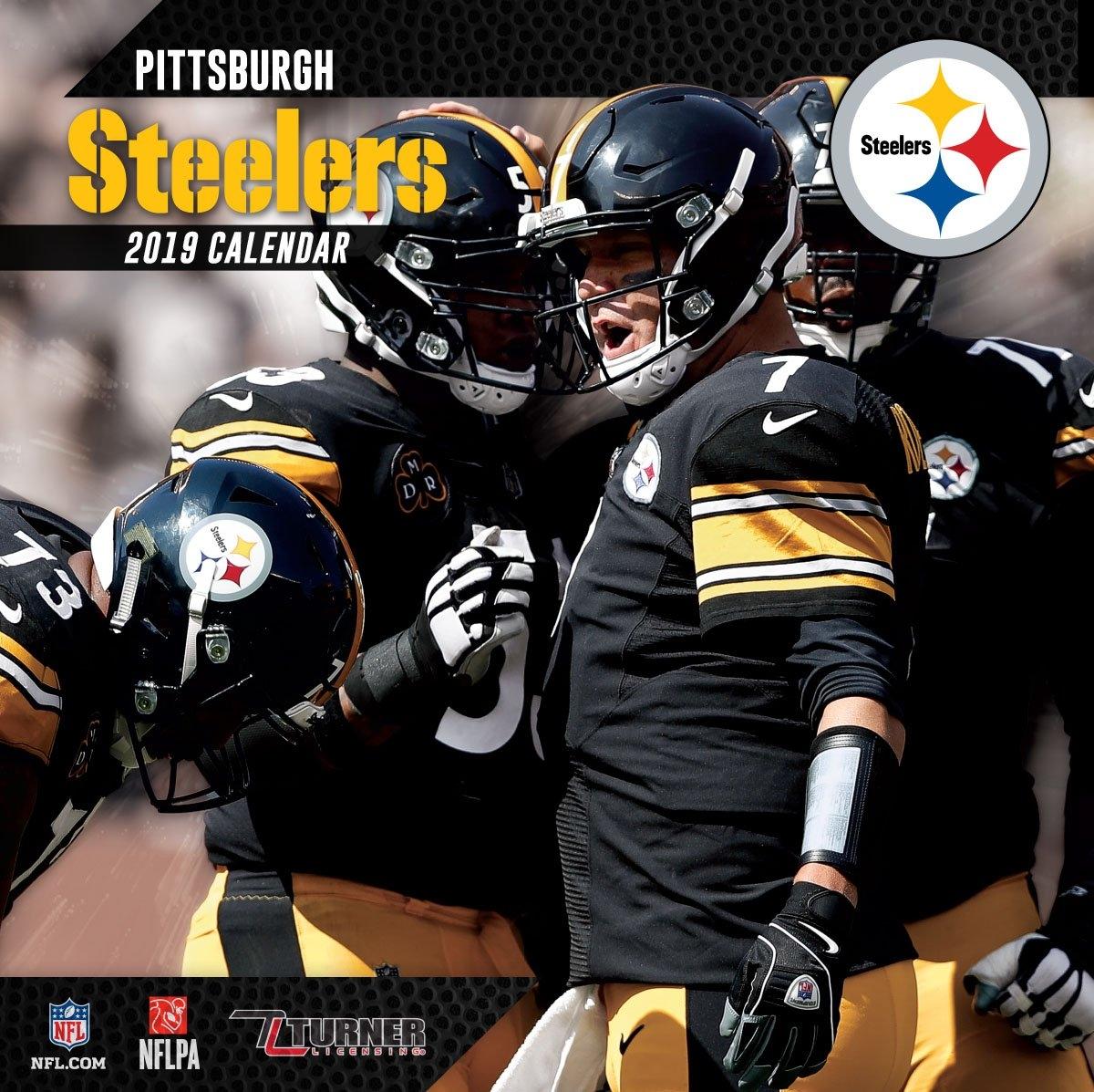 2019 12X12 Team Wall Calendar, Pittsburgh Steelers - Walmart Calendar 2019 At Walmart