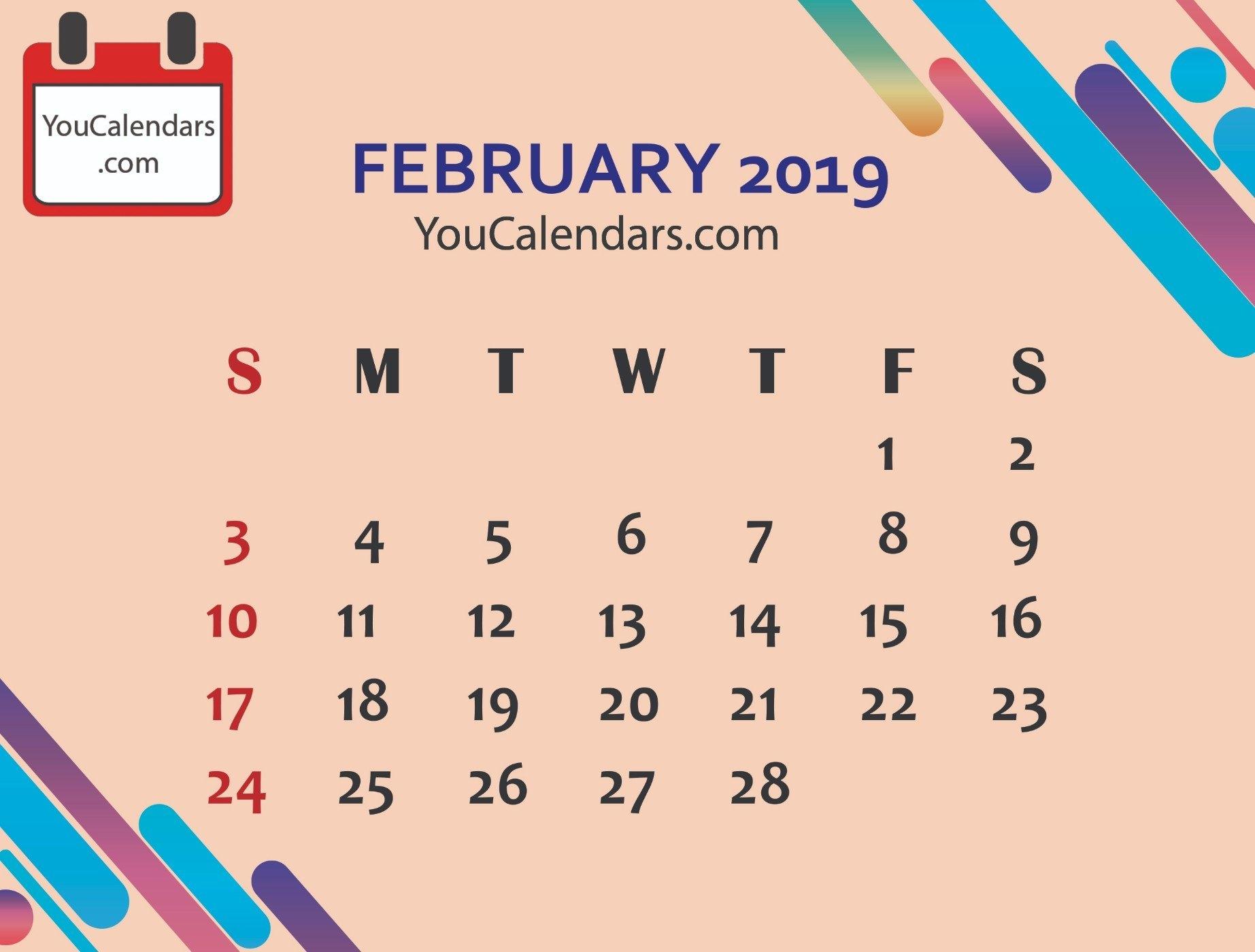 2019 Calendar Archives - You Calendars Feb 9 2019 Calendar