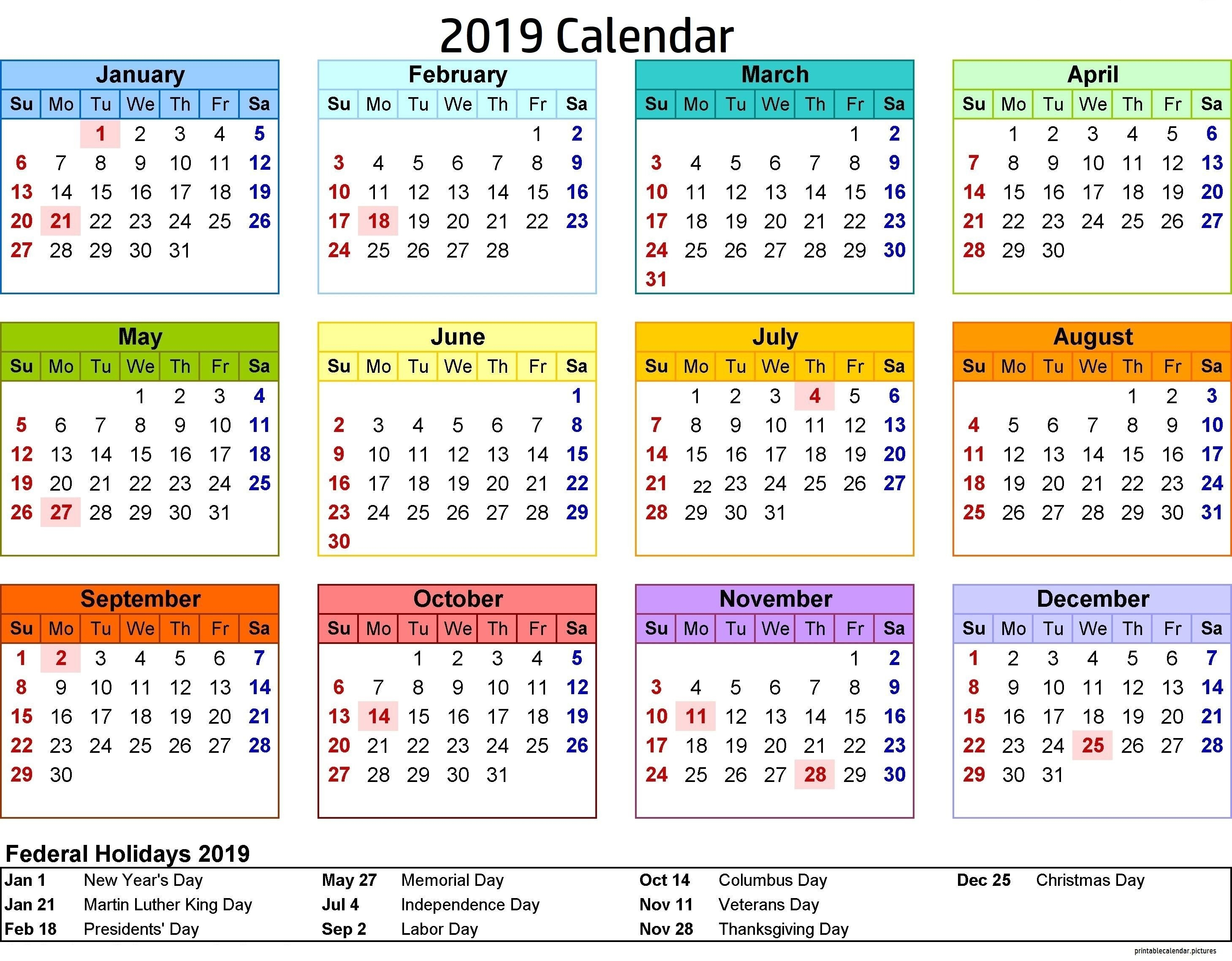 2019 Calendar Philippines With Holidays | 2019 Calendar Holidays Calendar Year 2019 Philippines