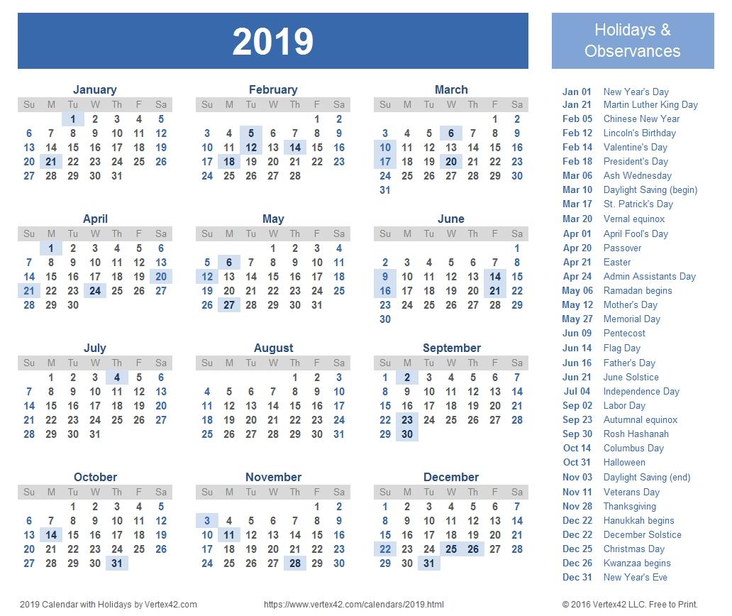 2019 Calendar Templates And Images Calendar 2019 Ka