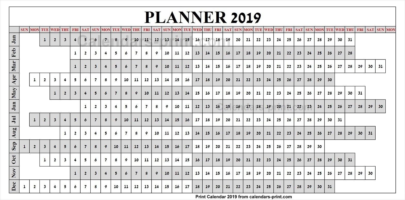 2019 Calendar Year To Print Free | Download Blank Pdf Template Calendar 2019 Za Printanje