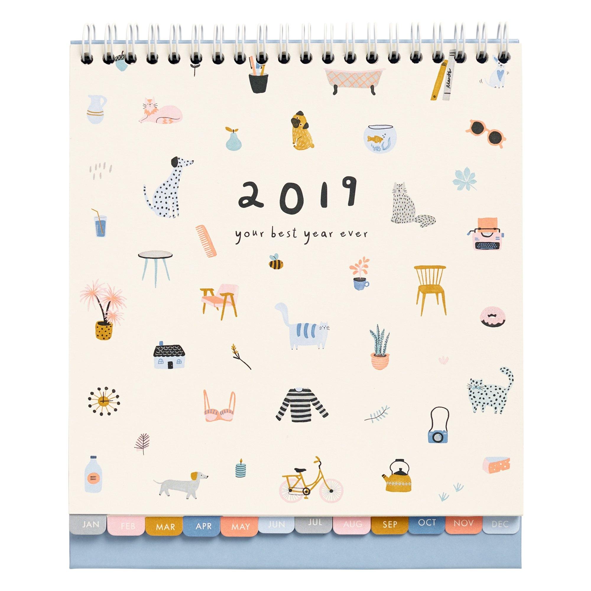 2019 Desk Calendar: Sweet | Calendars | Kikki.k Calendar 2019 Picture