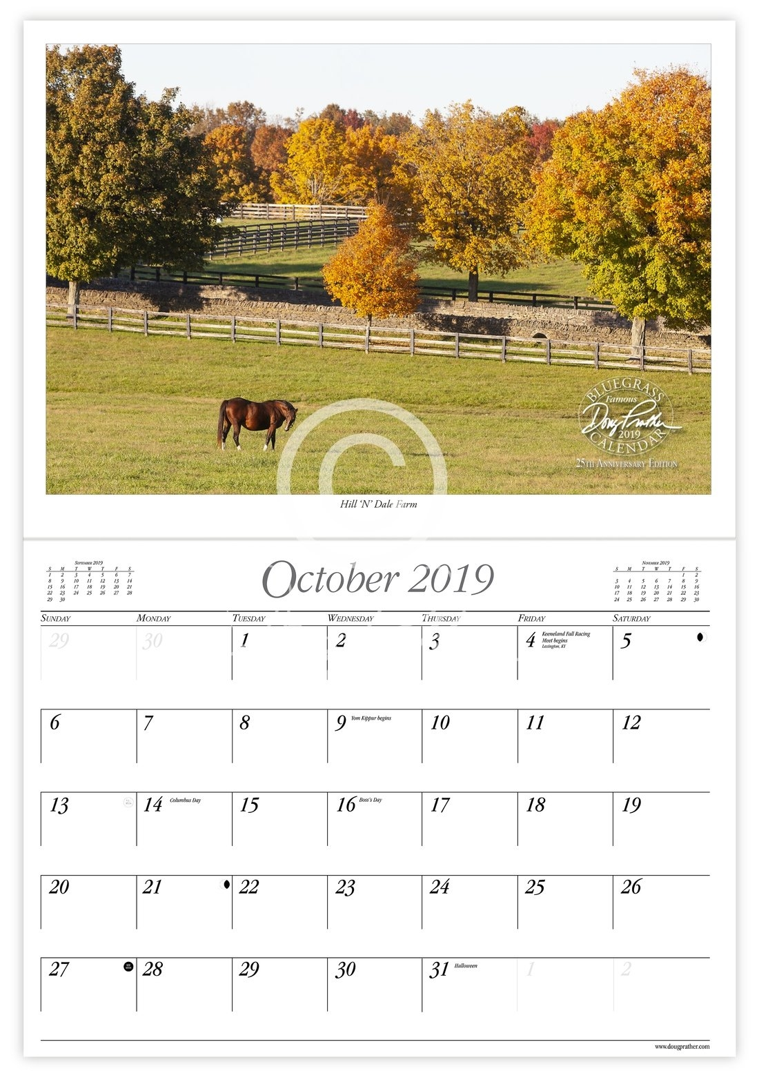 2019 Doug Prather Famous Bluegrass Calendar, 25Th Anniversary W&m Calendar 2019