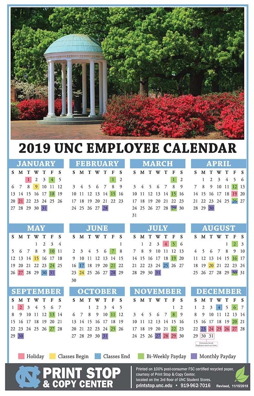 2019-Employee-Calendar-11-X-17 - Campus Enterprises Calendar 2019 11X17
