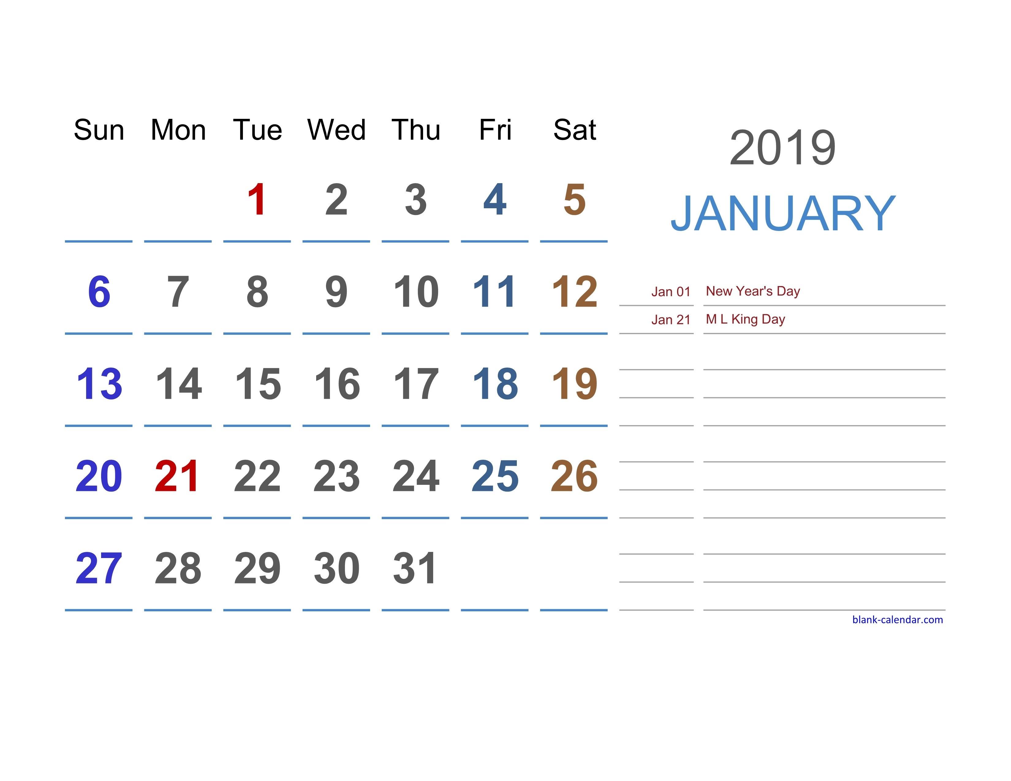 2019 Excel Calendar | Free Download Excel Calendar Templates Calendar 2019 Excel Spreadsheet