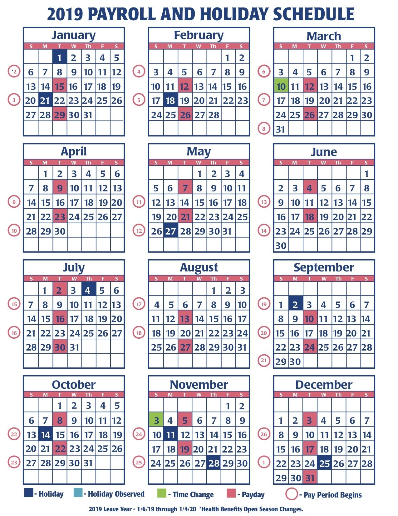 2019 Faa Payroll Calendar – Faa Managers Association 4 Weekly Pay Calendar 2019