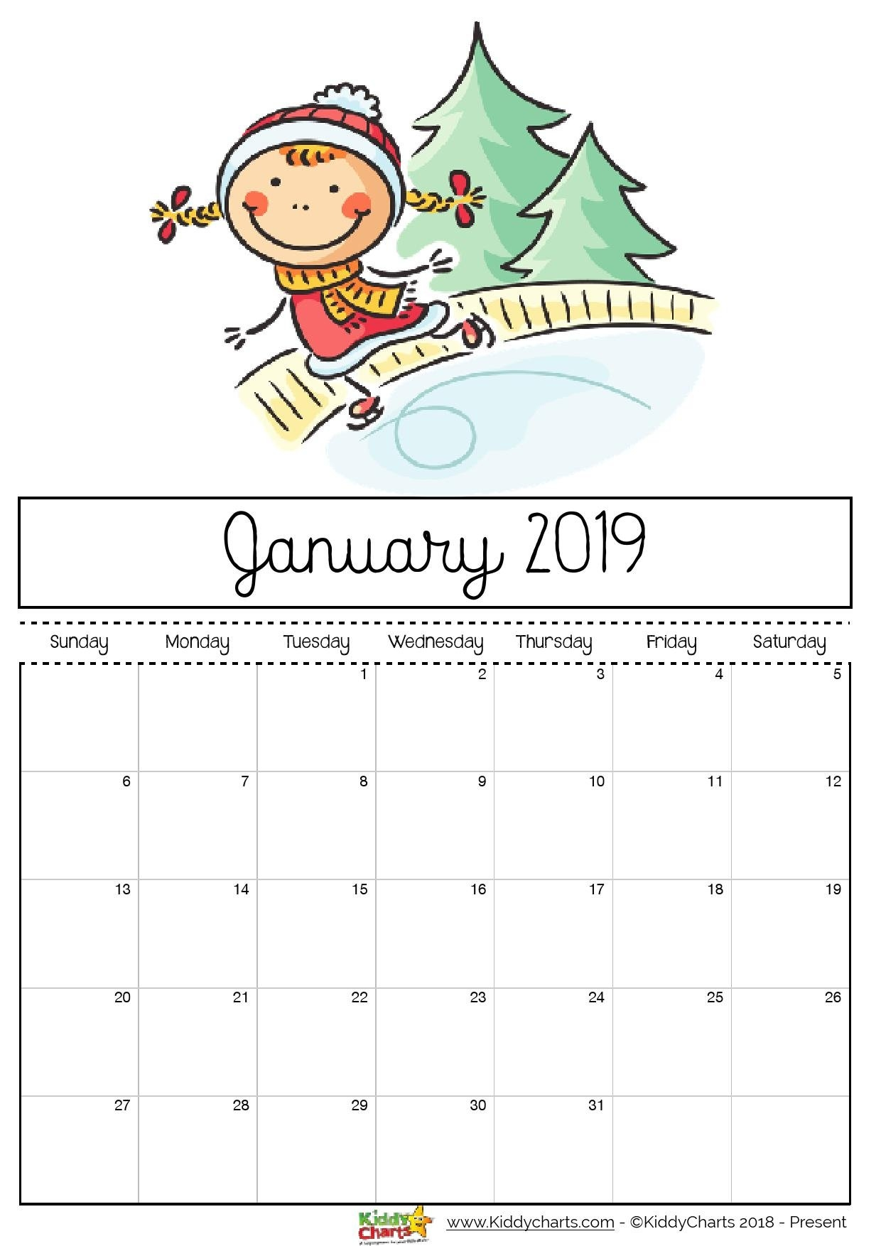 2019 Free Printable Calendars - Lolly Jane Calendar 2019 Free Print