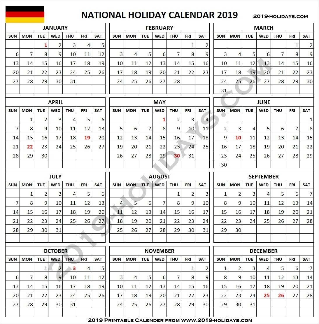 2019 Germany Holidays Calendar With Notes | Germany 2019 Holidays Calendar 2019 Germany Holidays