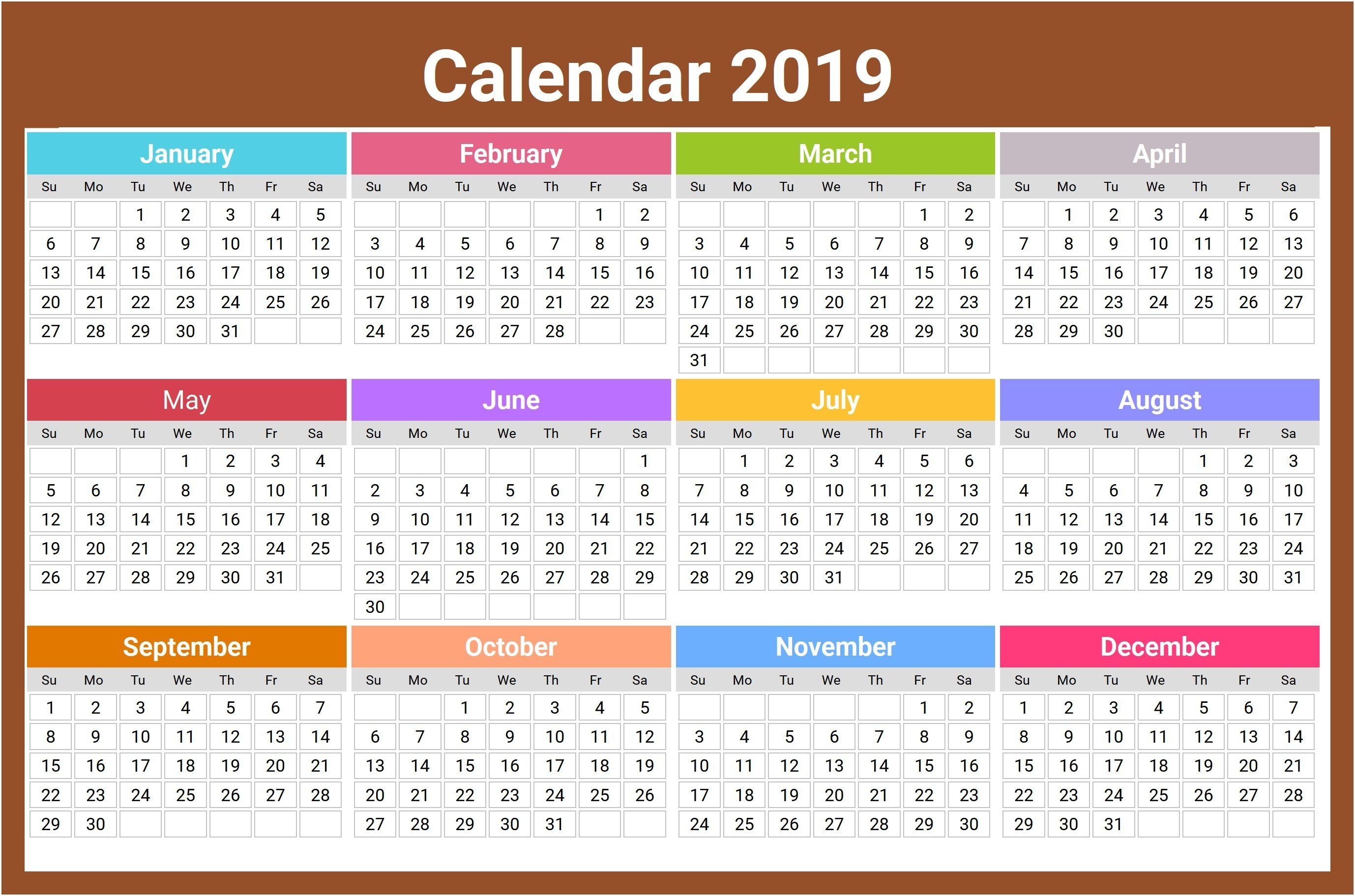 2019 Ka Calendar To Download Or Print   Americanwomanmag Calendar 2019 Ka