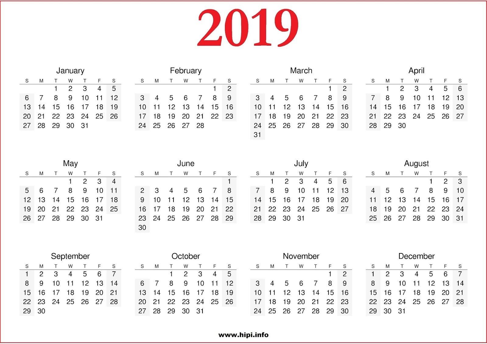 2019 Kalenteri | Download 2019 Calendar Printable With Holidays List July 6 2019 Calendar
