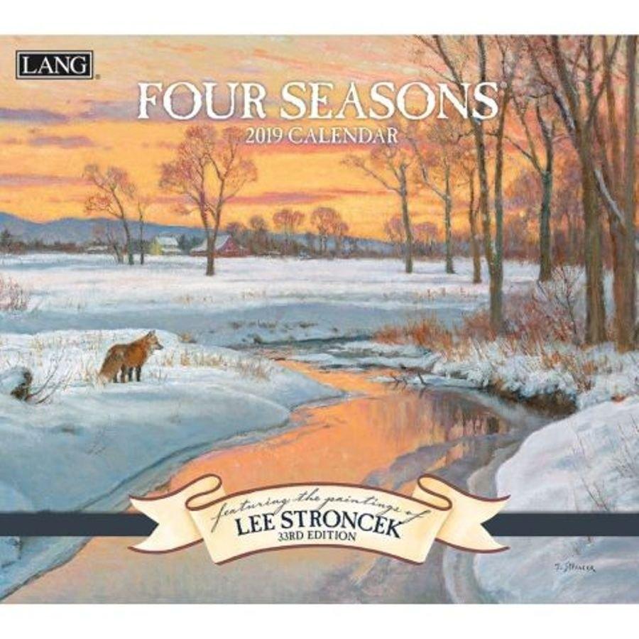 2019 Lang Calendar - Four Seasons - Artist Lee Stroncek Calendar 2019 Artist