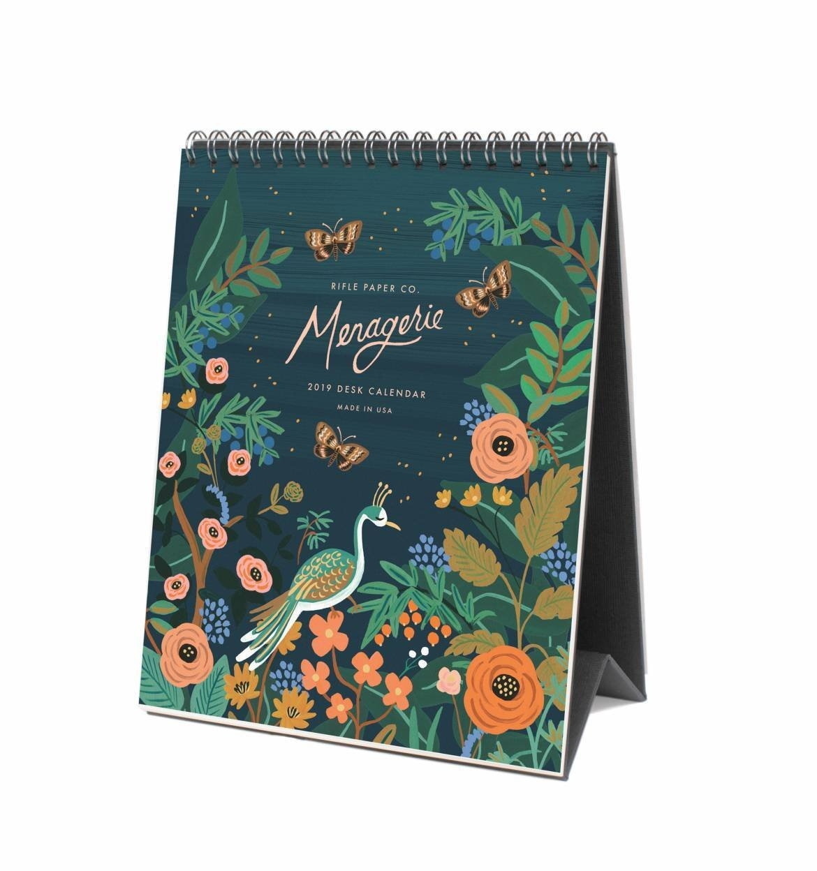 2019 Midnight Menagerie Desk Calendarrifle Paper Co. | Made In Usa Calendar 2019 Octopus