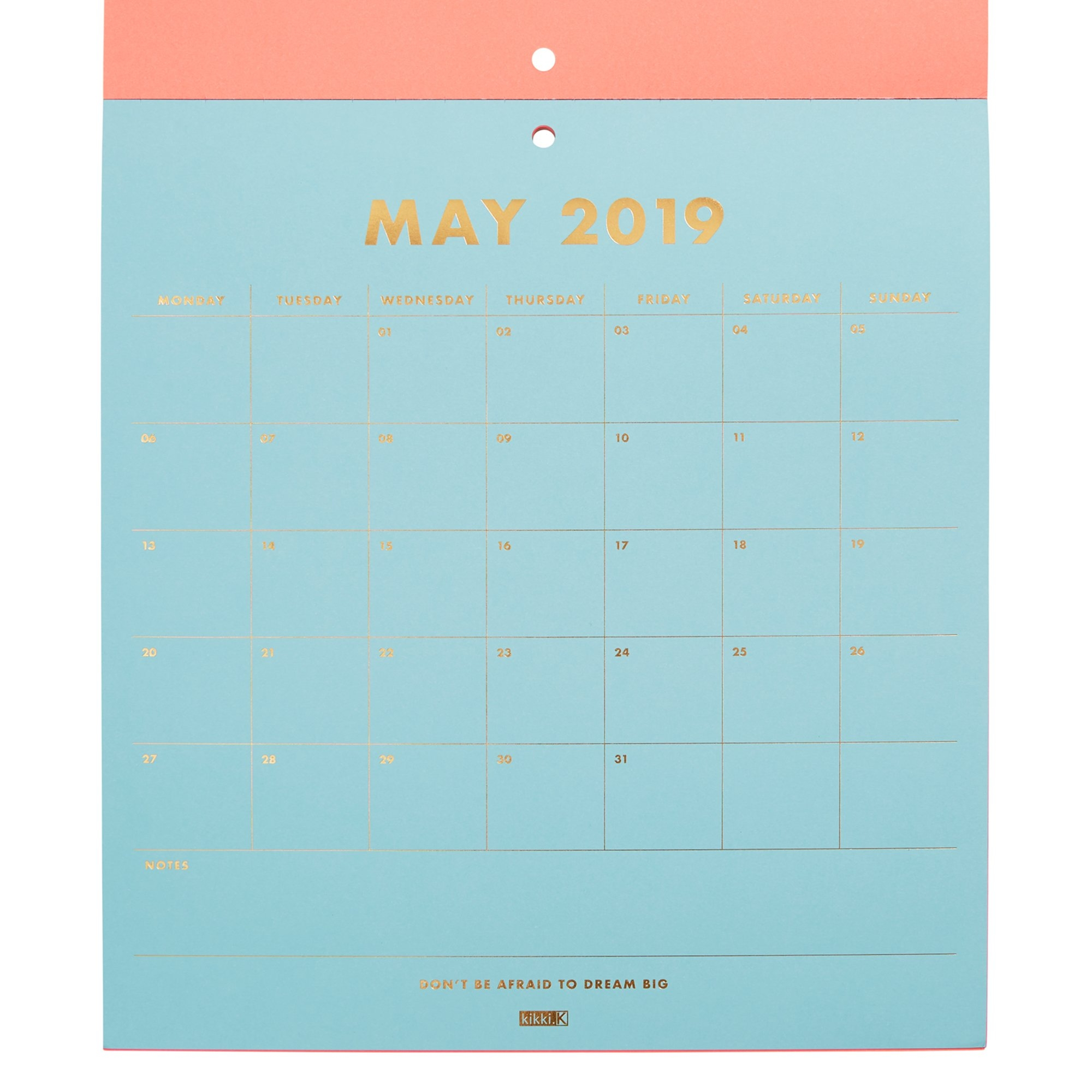2019 Pad Calendar Neon | Calendars | Kikki.k Kikki K Calendar 2019
