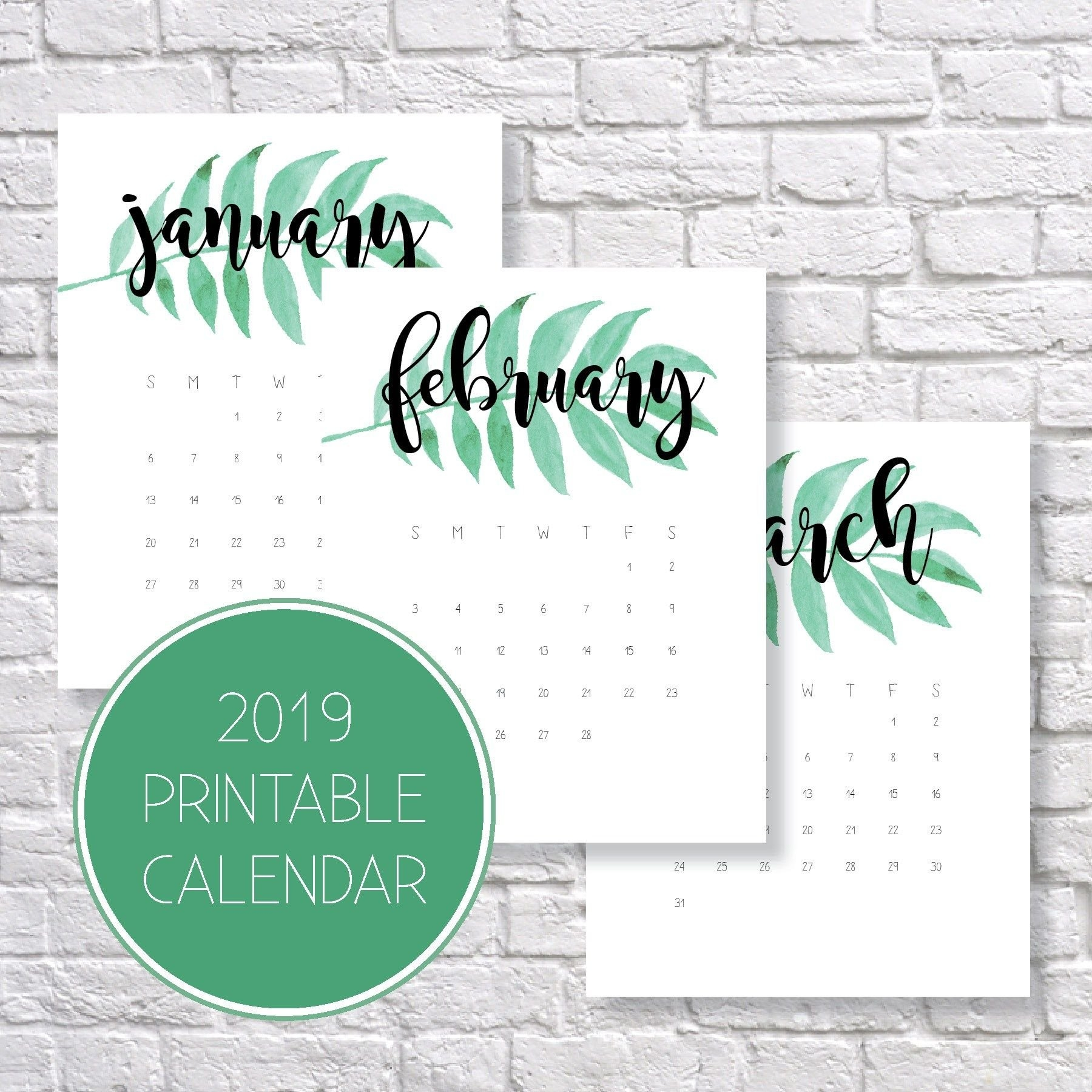 2019 Printable Calendars And Planners | Printables | Pinterest Calendar 2019 Ideas