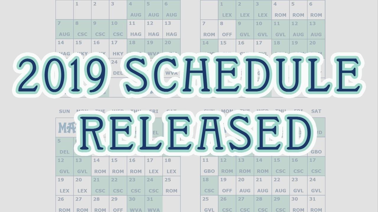 2019 Schedule Release: Asheville Tourists | Milb News Lex Rich 5 Calendar 2019