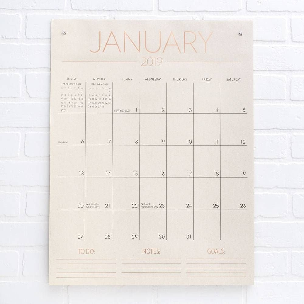 2019 Tall On The Wall Grid Calendar | Birthday/christmas Wish List Calendar 2019 Paper Source