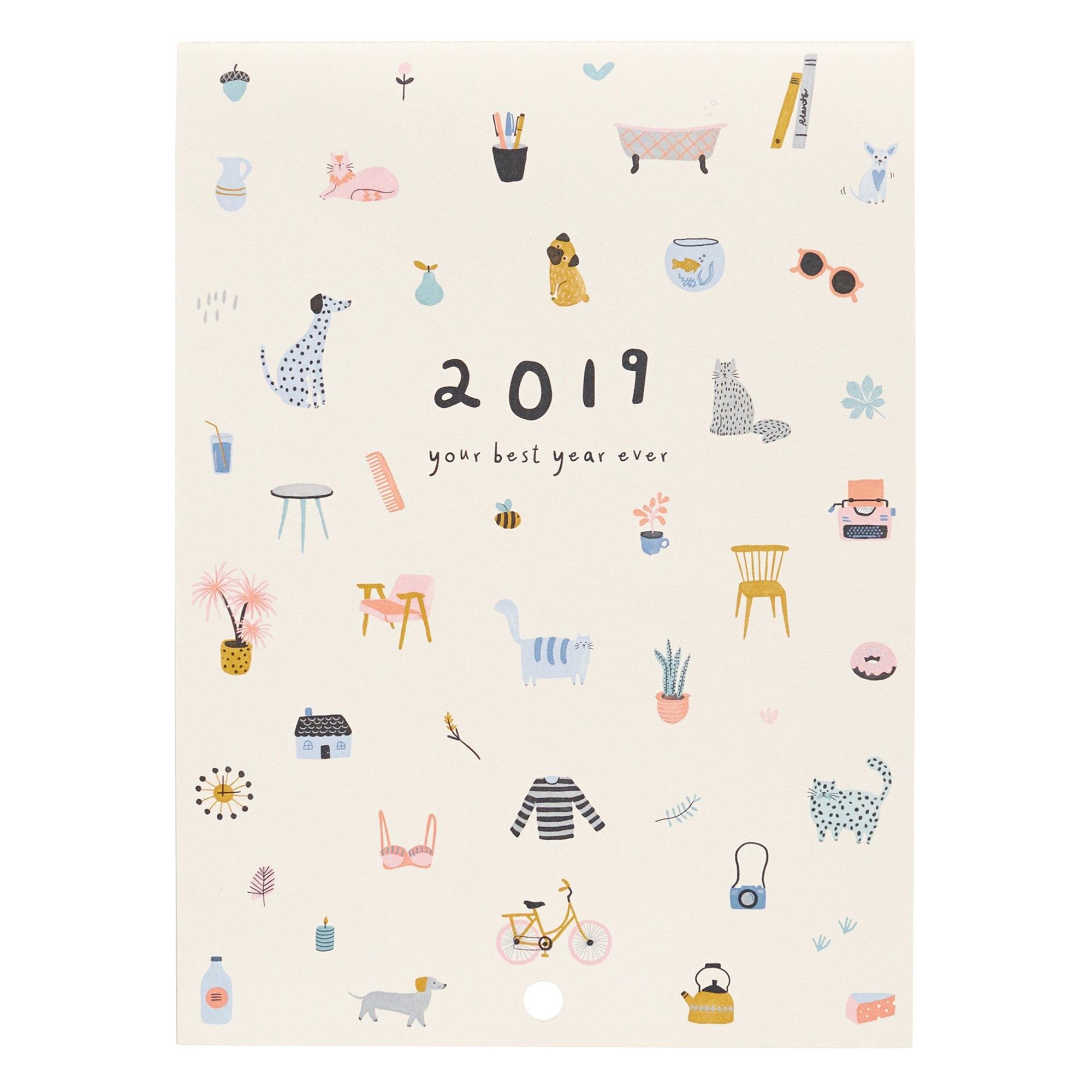 2019 Wall Calendar: Sweet | Calendars | Kikki.k Kikki K Calendar 2019
