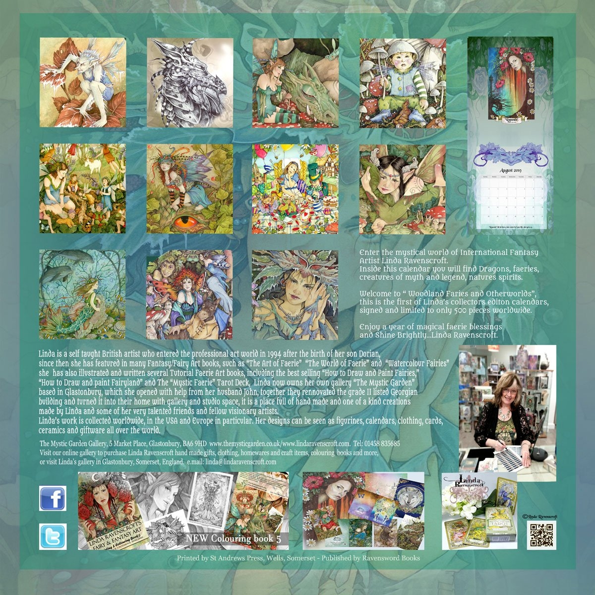 2019 Woodland Faeries & Otherworlds Calendar – Collectors Edition Calendar 2019 Artist