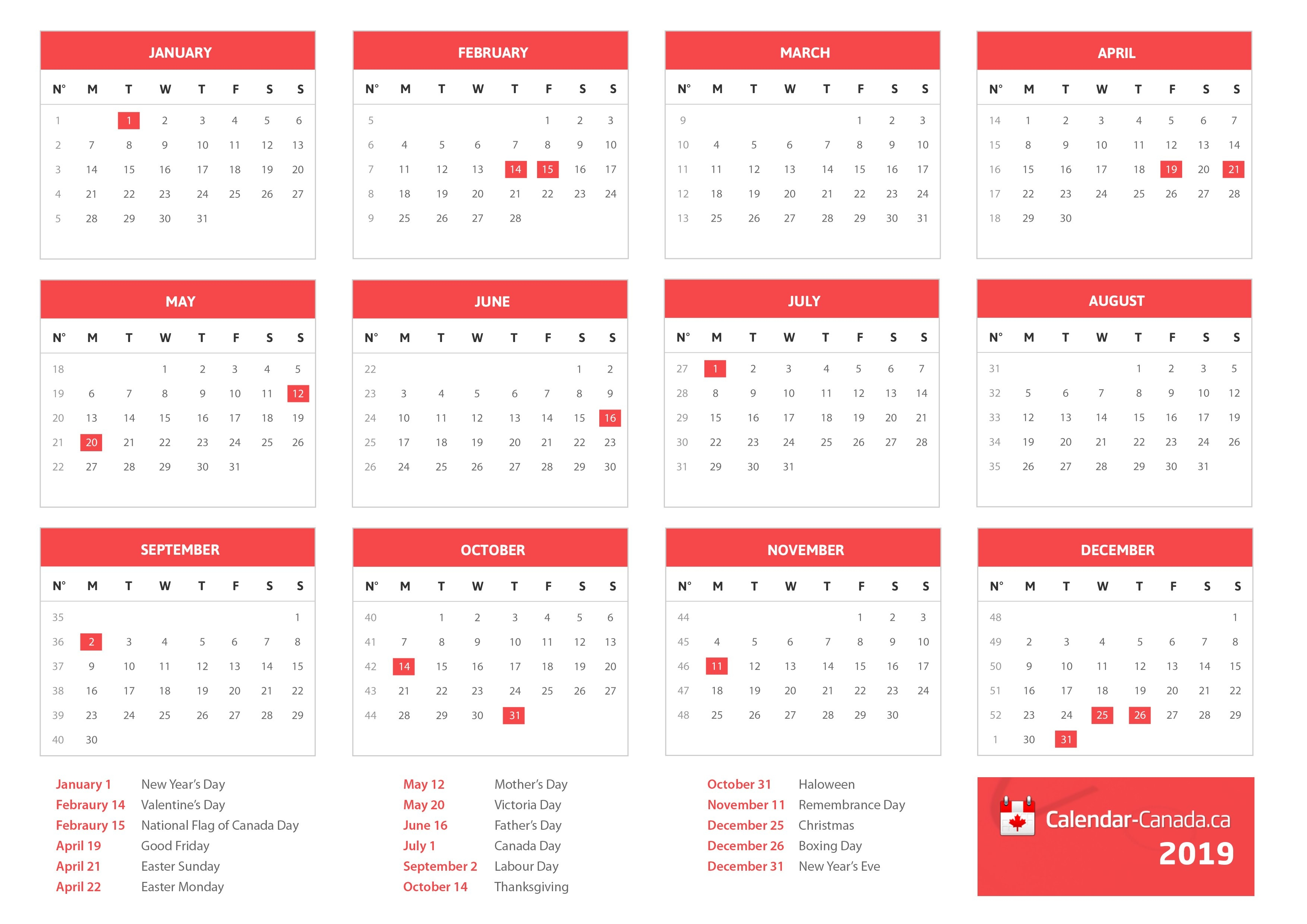 2020 Holidays Canada - Statutory, National & Local Holidays For 2020 Calendar 2019 Canada Holidays