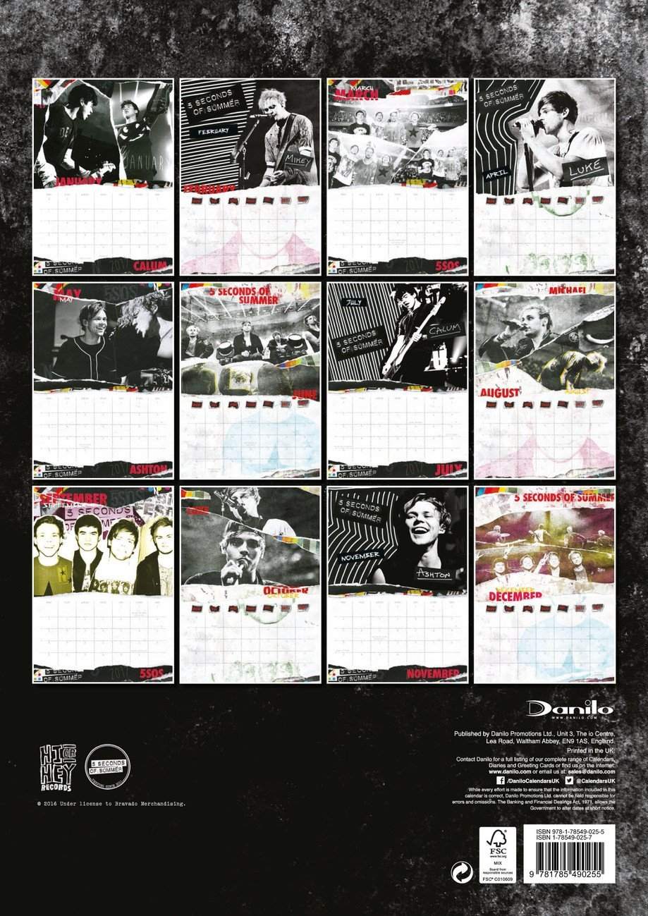 5 Seconds Of Summer - Calendars 2019 On Ukposters/abposters 5Sos Calendar 2019