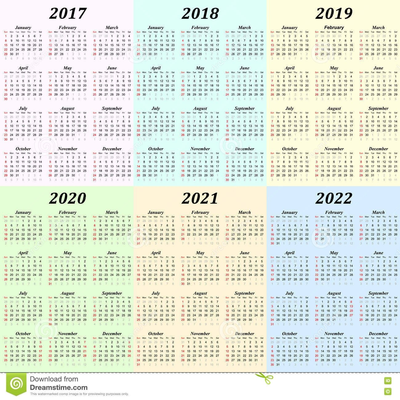 5 Year Calendar 2019 To 2023 - Littledelhisf 5 Year Calendar 2019 To 2023