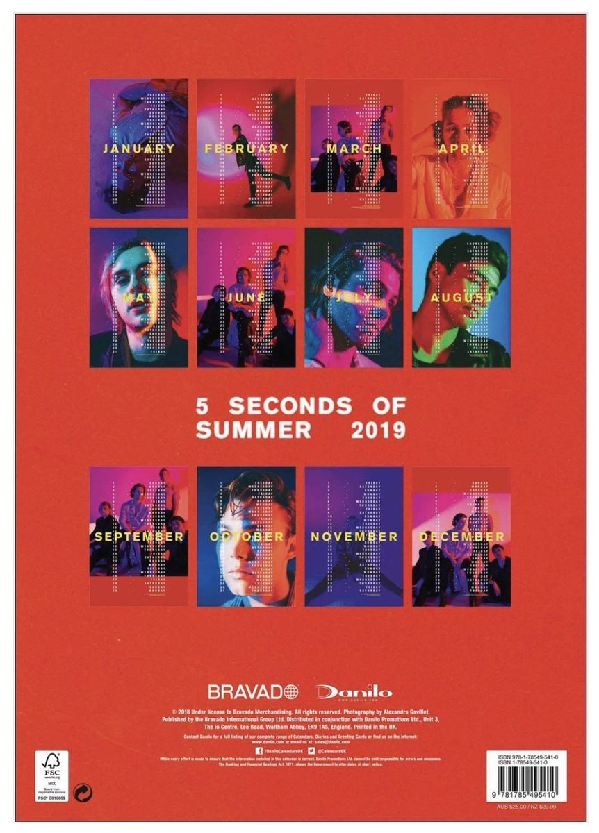 "5Sos Updates! / Tha5Sosfamily On Twitter: ""5Sos Are Releasing Their 5Sos Calendar 2019"